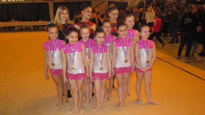 Résultats du championnat départemental par ensemble de Gymnastique Rythmique