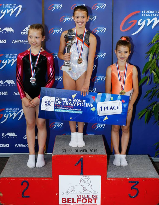 Pluie de médailles au championnat de france de Trampoline.
