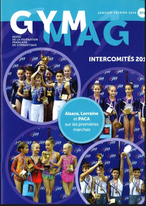 Nos gymnastes en couverture de GYM MAG