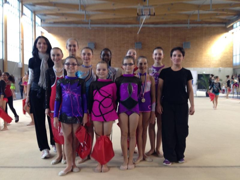 Résultats championnat départemental individuelle de Gymnastique Rythmique